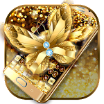 Golden Butterfly Keyboard Icon