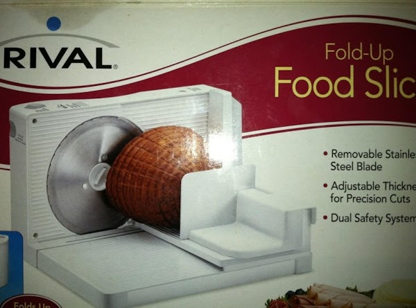 Remove meat slicer from box, wash, rinse and thourouly dry all parts of the...