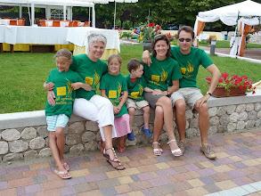 Photo: Famiglia dal Belgio in vacanza; sul retro il Piano Ventunis
