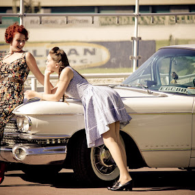 by Jasmine Graham - People Portraits of Women ( car, vintage, retro, pin up )