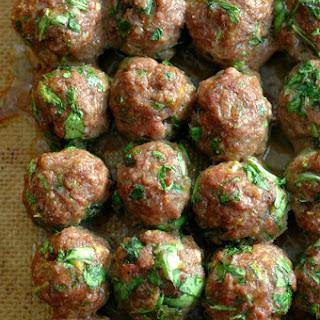 Kale and Herb Stuffed Meatballs