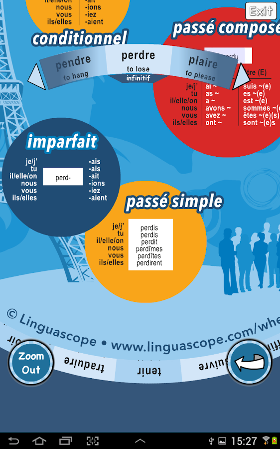 Verb Wheel : French- screenshot