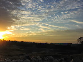 Photo: The developing sunset.