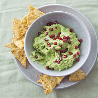 Guacamole with Baked Corn Chips