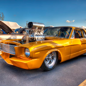 Yellow Muscle Car by Rich Reynolds - Transportation Automobiles ( car, hdr, muscle, yellow, cruise,  )