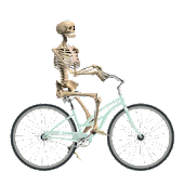 Skeleton Ragdoll Hill Biker