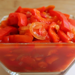 Lecho - Marinated Red Bell Peppers