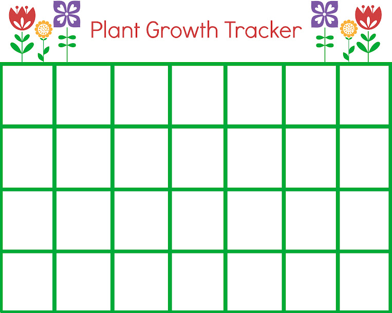 Free Printable Plant Growth Tracker for Gardening with Kids