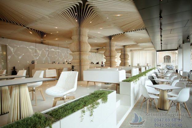 Thiết kế cửa hàng ăn uống hợp phong thủy