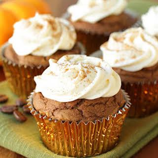 Low-Calorie Pumpkin Spice Latte Cupcake.