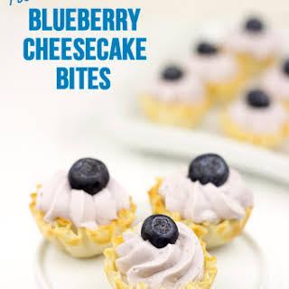 No Bake Blueberry Cheesecake Bites with Philadelphia Cream Cheese.