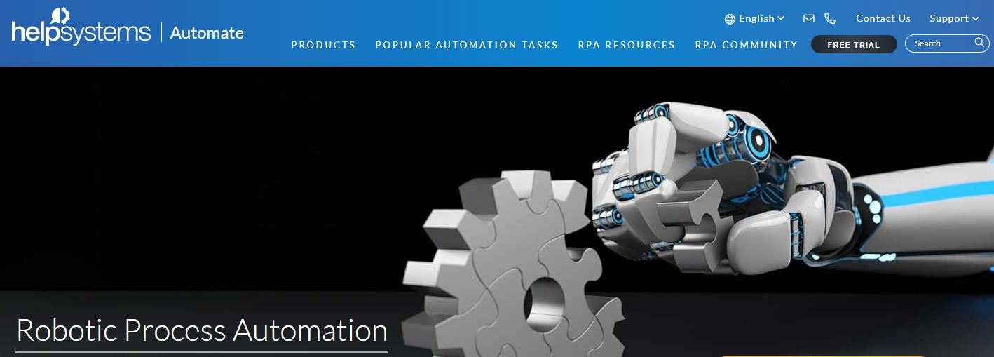 HelpSystems is one of the Robotic Process Automation Software