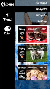 Kittens Clock Weather Widget - náhled