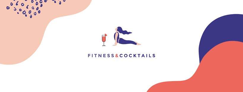 Fitness & Cocktails - Facebook Page Cover Template