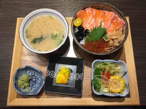 鮭魚丼飯!!