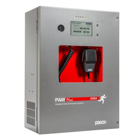 PAW2522-V | EN 54-16 certifierad kompaktcentral - talat utrymningslarm