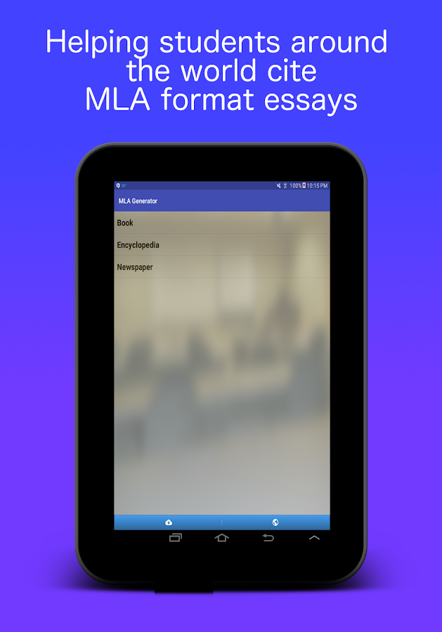 mla essay generator