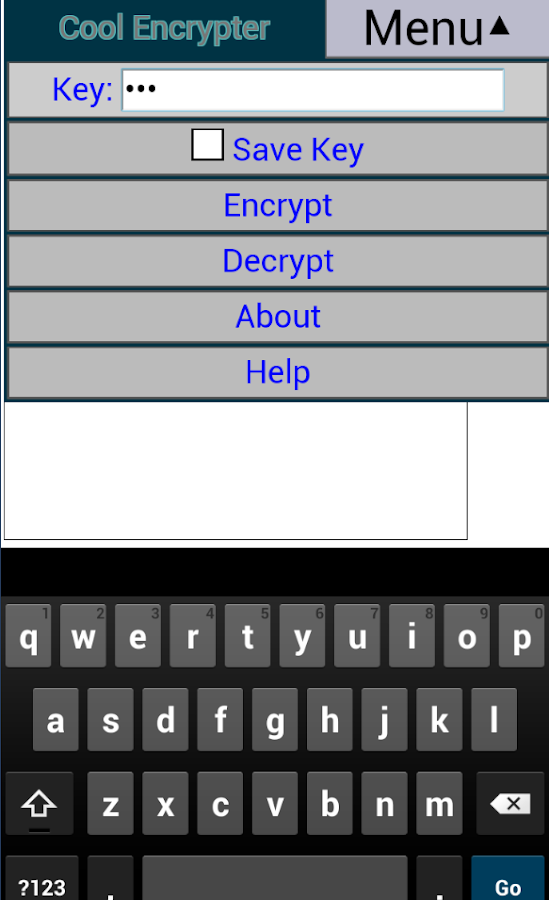 Cool Encrypter- screenshot