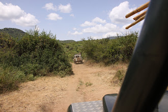 Photo: Then the rest caught up with us - and we made our way off-road and into the Mathews Range