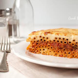 Vegetarian Pastitsio.