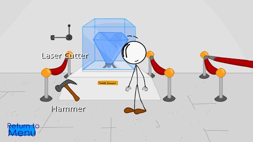 Stealing the diamond, a stickman adventure screenshot 1