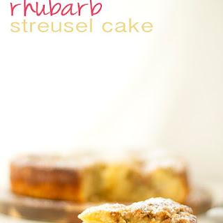 Rhubarb Streusel Cake.