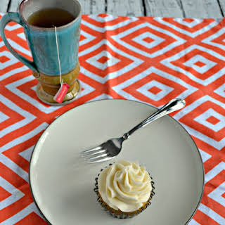 Vanilla Chai Cupcakes with Orange Frosting.