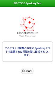 GIB TOEIC Speaking Test - náhled