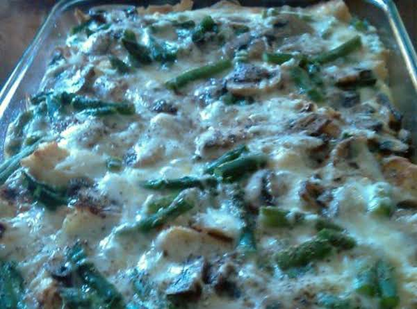 Asparagus Mushroom Strata