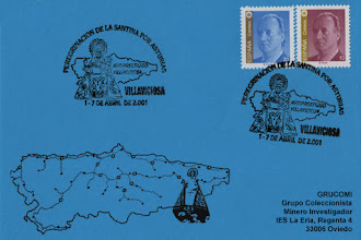 Photo: Matasellos del 2001 de la visita de la Santina a Villaviciosa