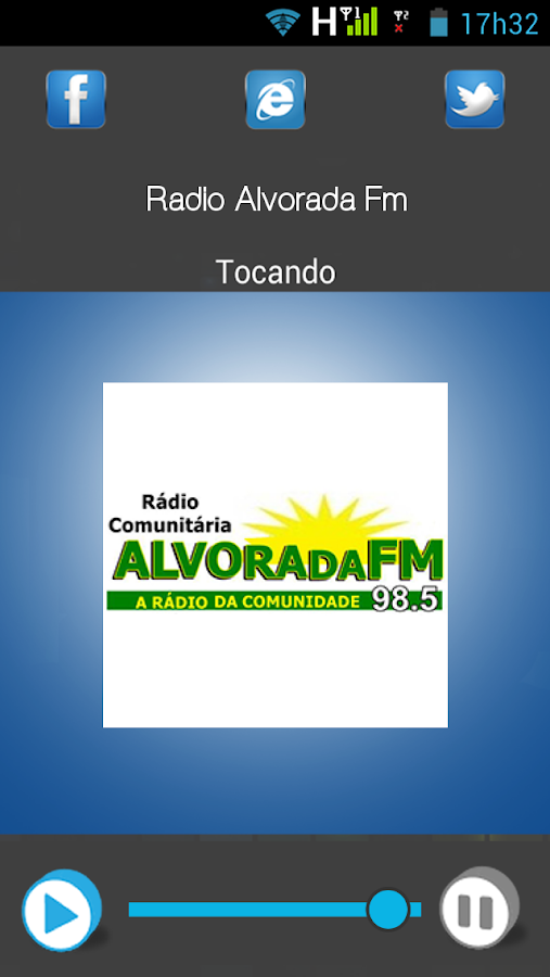 Rádio Alvorada FM- screenshot
