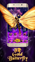 screenshot of Gold Butterfly 3D Theme