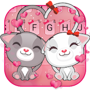Cute Kitty Love Keyboard Theme