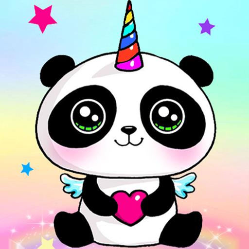 Panda wallpapers  - kawaii & Cute  Pandicorn - Icon