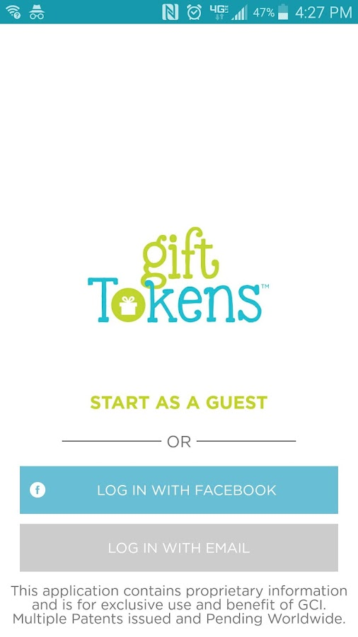 Gift Tokens- screenshot