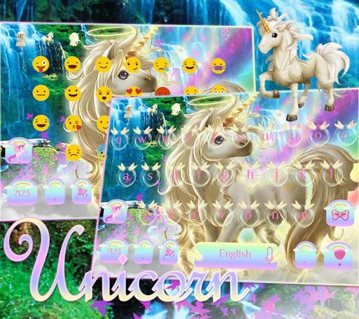 Rainbow unicorn Keyboard theme  screenshots 2