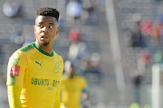 George Lebese during the Absa Premiership match between SuperSport United and Mamelodi Sundowns at Lucas Moripe Stadium on August 19, 2017 in Pretoria, South Africa.