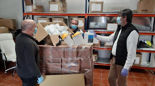 El Ayuntamiento de Adra recibe más material de protección frente a la COVID-19