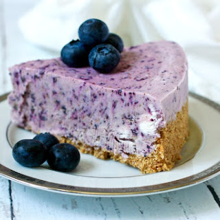 No-bake Frozen Blueberry Pie