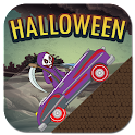 Halloween uphill climb for kid icon