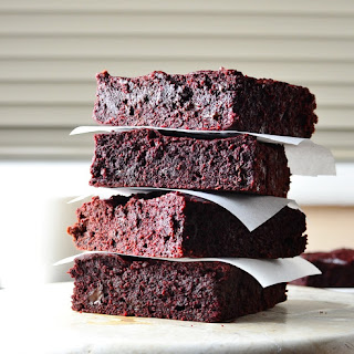 Beetroot Coconut Brownies.