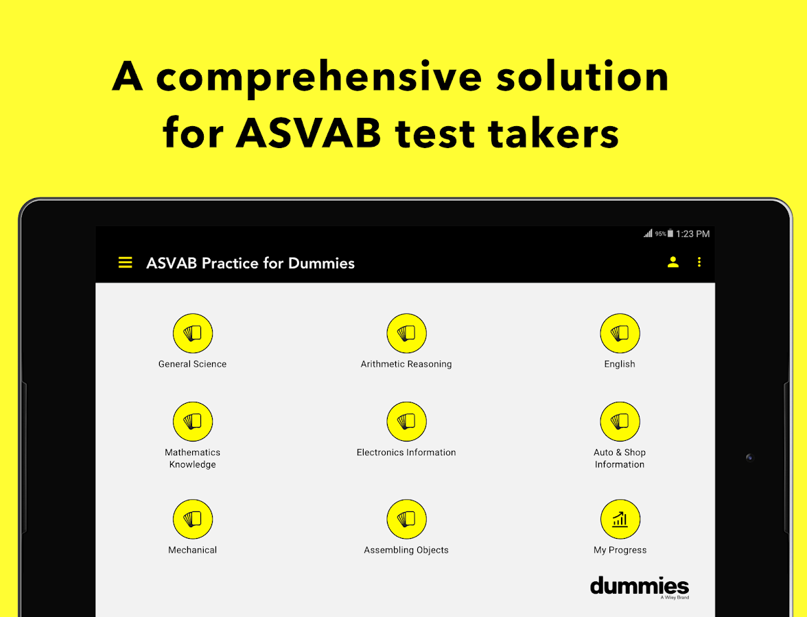 ASVAB Practice For Dummies- screenshot