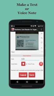 Free Business Card Scanner for Sugar CRM- screenshot thumbnail