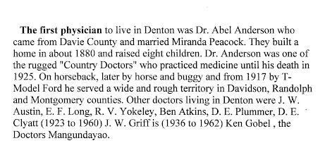 Photo: The First Physician in Denton