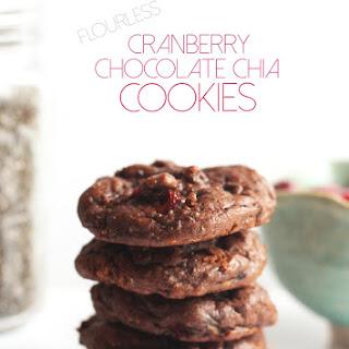 Flourless Cranberry Chocolate Chia Cookies