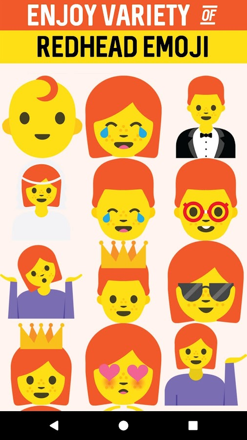 Redhead Emoji Stickers- screenshot