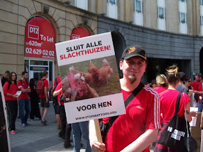 Photo: Manifestation à Bruxelles pour la fermeture des abattoirs