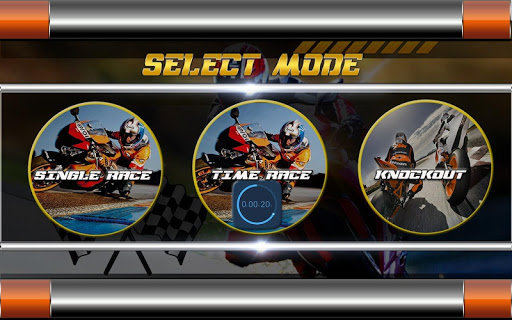 高速摩托自行车比赛