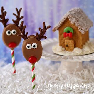 Honey Maid and Skippy Reindeer Pops and Graham Cracker Houses.