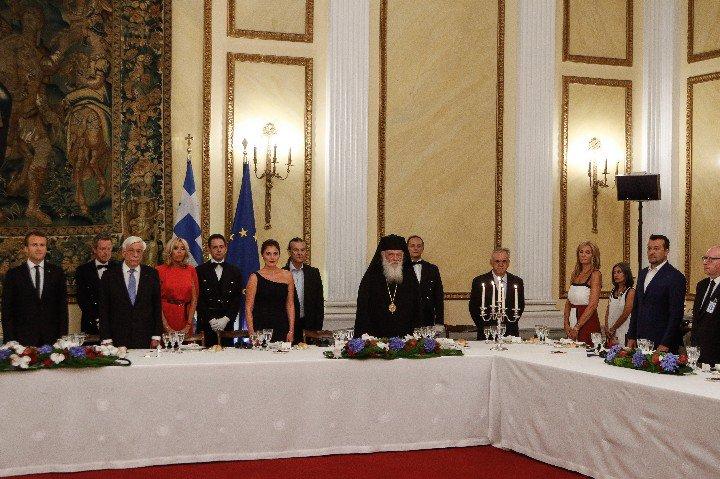 Ο Αρχιεπίσκοπος στο δείπνο προς τιμήν του Εμανουέλ Μακρόν